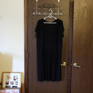 Avenue black short sleeve dress